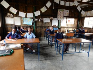 Pupils in the new classroom